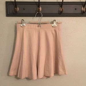 Lulus Cream Skater Skirt